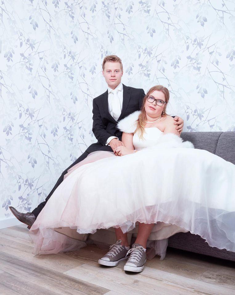 Laura en Johan. Hij was 22 jaar op hun trouwdag, zij 19. Beeld Erik Smits