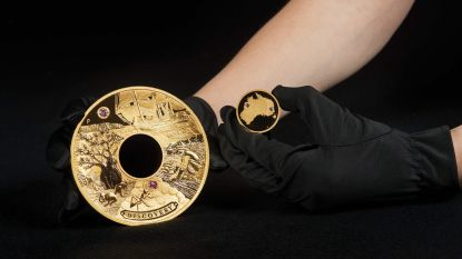 Stevige cent: Australië slaat gouden munt met waarde van 1,5 miljoen euro