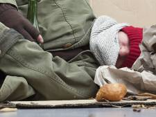 Gevoelstemperatuur onder de -5, alle daklozen mogen binnen slapen