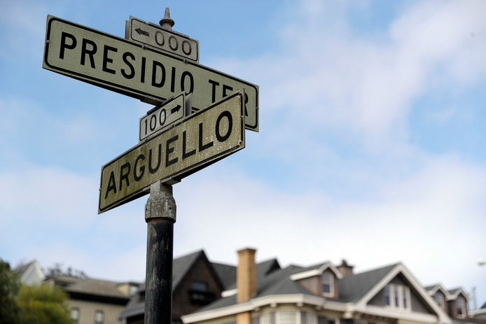 Presidio Terrace, de straat die door Amerikaanse investeerders op een veiling werd gekocht.