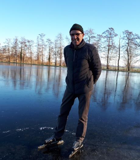 IJsmeester in Olst schaatst eerste meters: 'Dit is prachtig'