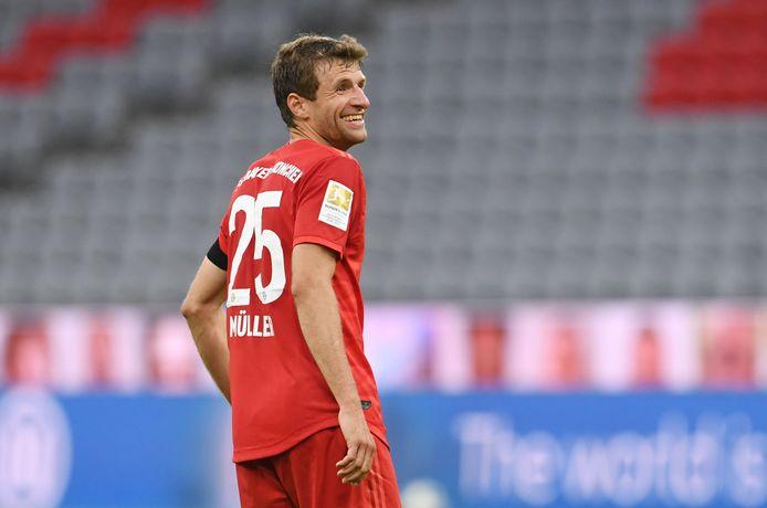 De lach is terug op het gezicht van Thomas Müller.