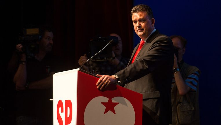 Emile Roemer tijdens het SP-partijcongres, vorige week in Breda. Beeld ANP