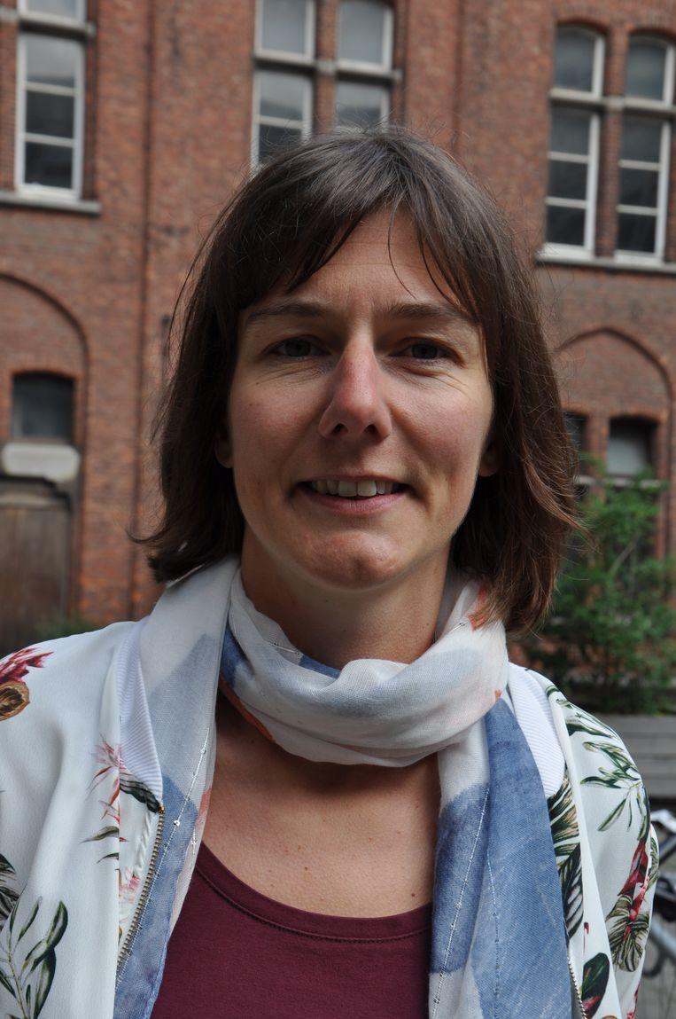 Directeur van kunsthumaniora Sint-Lucas Karen Verhamme is vooral opgelucht dat er nog niemand op de school aanwezig was.