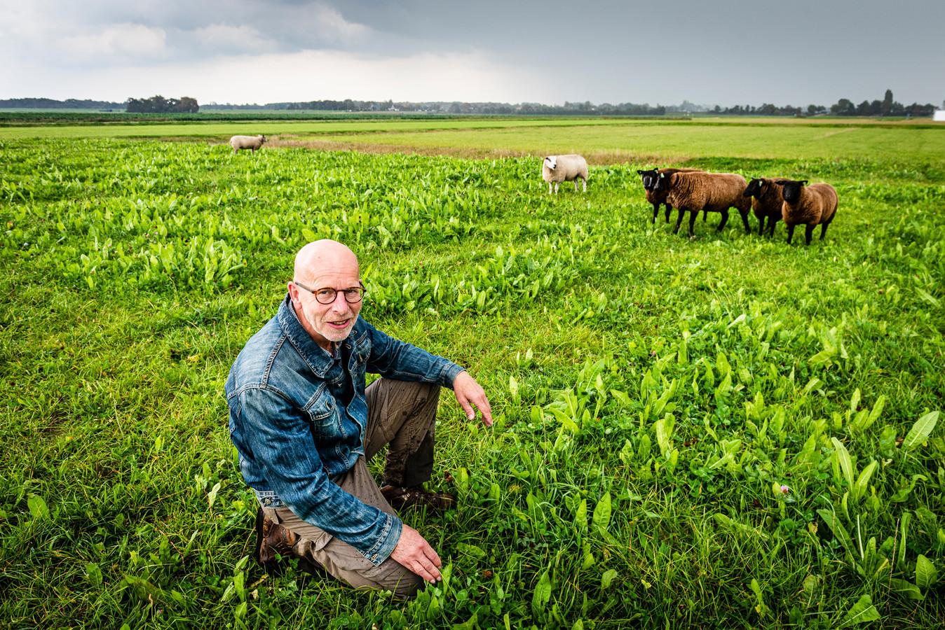 Jos Droogh op het terrein waar zijn familie vijf generaties heeft geboerd en dat nu landgoed in wording  is.