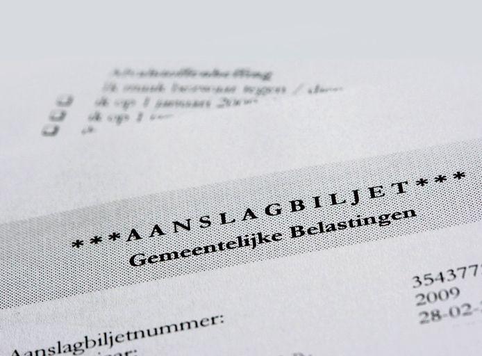Aanslagbiljet voor de gemeentelijke belastingen.
