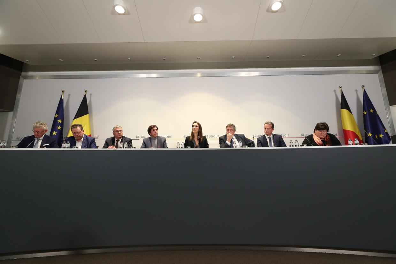 De persconferentie na de bijeenkomst van de Nationale Veiligheidsraad.