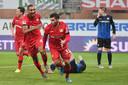 Kevin Volland juicht na zijn tweede treffer tegen Paderborn.
