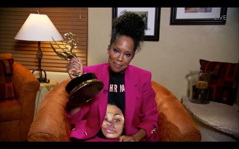Regina King kreeg een Emmy voor haar rol in Watchmen.  Beeld Getty