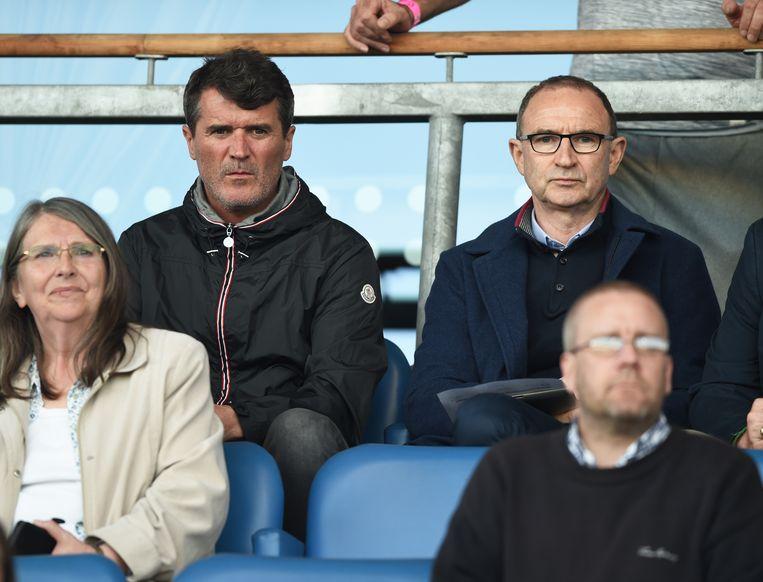 Martin O'Neill (rechts) met assistent Roy Keane.