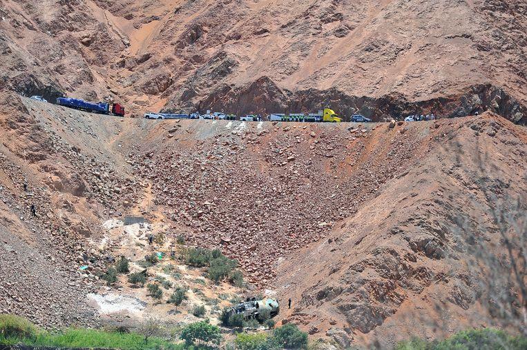 Beeld van een ander busongeval in Peru op 21 februari van dit jaar.