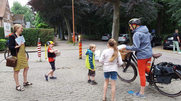 Wie te voet of met de fiets kwam werd uiteraard ook beloond.