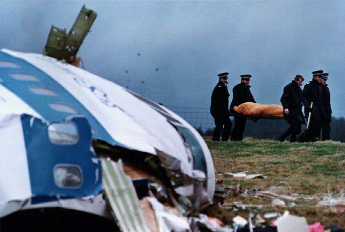 Archiefbeeld: de vliegtuigcrash in Lockerbie.