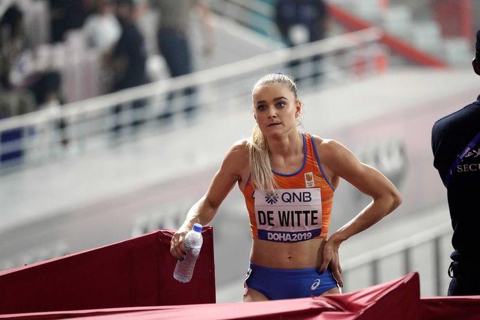 Lisanne de Witte tijdens de WK in Doha.
