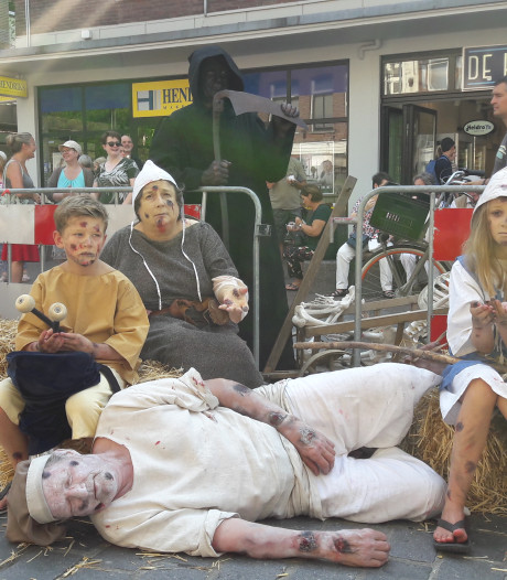 Pestlijders in de Nijmeegse Burchtstraat