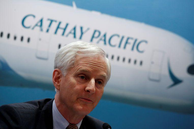 John Slosar. De bestuursvoorzitter van Cathay Pacific nam vorige week ontslag.  Beeld null