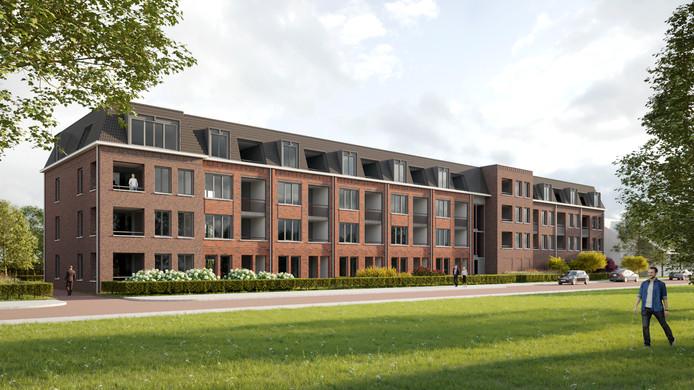 Zo komt het zeer energiezuinige appartementencomplex aan de Molenstraat in Best er uit te zien.