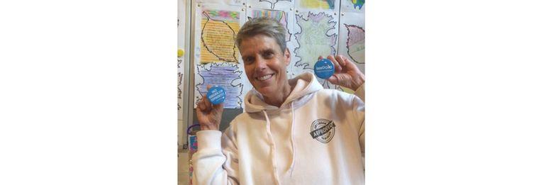 Marleen Keijlard: 'Op mijn school is ziek zijn geen optie, zwanger worden kan eigenlijk niet.'   Beeld