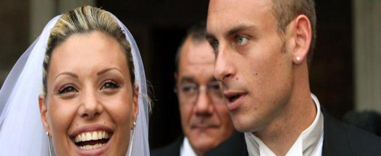 Tamara Pisnoli en Daniele De Rossi op hun huwelijksdag.
