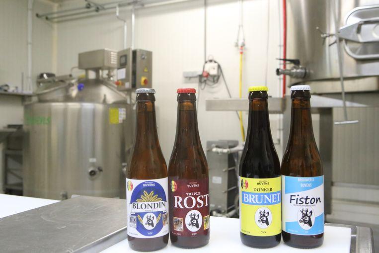 De bieren van brouwerij Buvens.