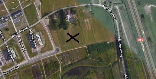 De locatie waarop de gemeente Apeldoorn wil gaan testen met de tiny houses.