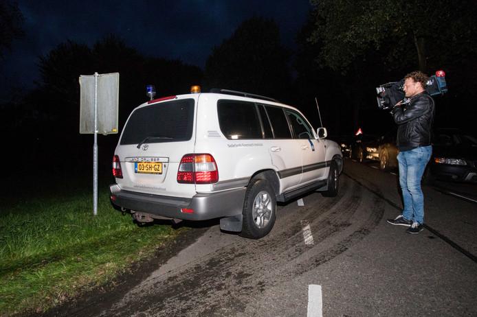 2017-10-11 19:21:59 ZEEWOLDE - De politie zoekt naar de vermiste Anne Faber in de buurt van een golfterrein in Zeewolde. De Utrechtse wordt al ruim anderhalve week vermist. ANP SEM VAN DER WAL