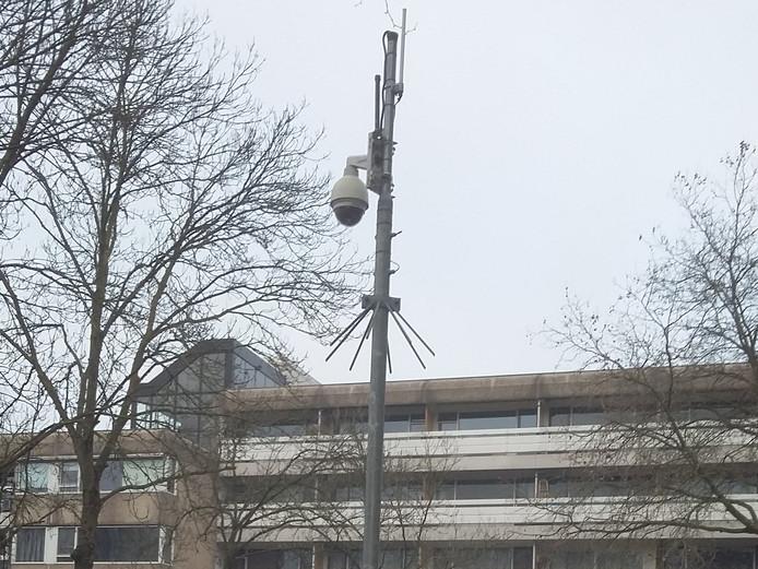Mobiele camera Adriaan van Bergenstraat.