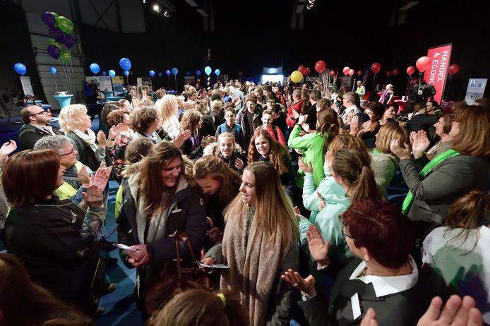 Vorig jaar werden de Roosendaalse leerlingen met applaus door de aanwezige bedrijven ontvangen.