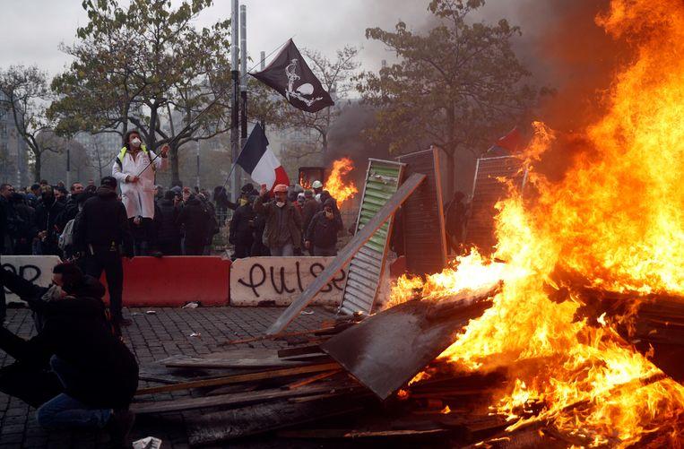 Op de Place d'Italie liep de situatie uit de hand.
