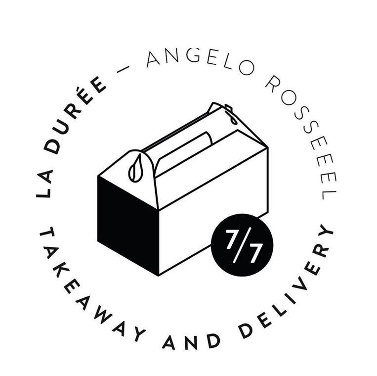 Het logo van de nieuwe takeaway en delivery-service van restaurant La Durée.