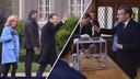 President Macron aan het stemmen voor de gemeenteraadsverkiezingen.