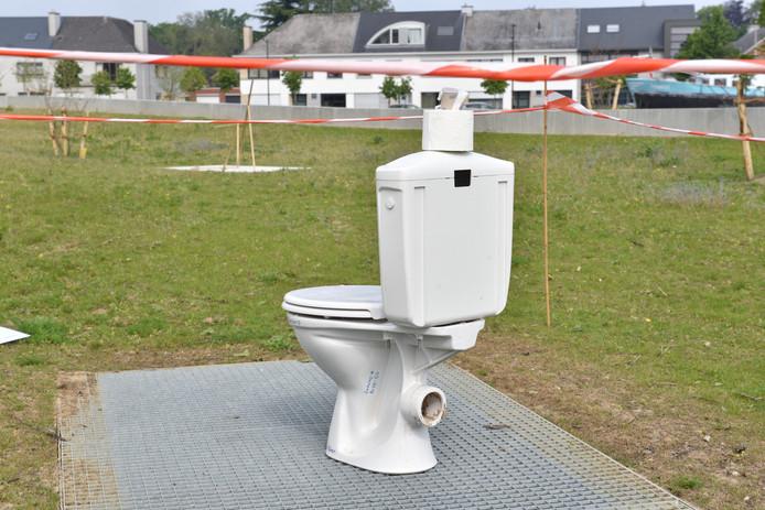 De wc-pot in het Belgische Oudenaarde.