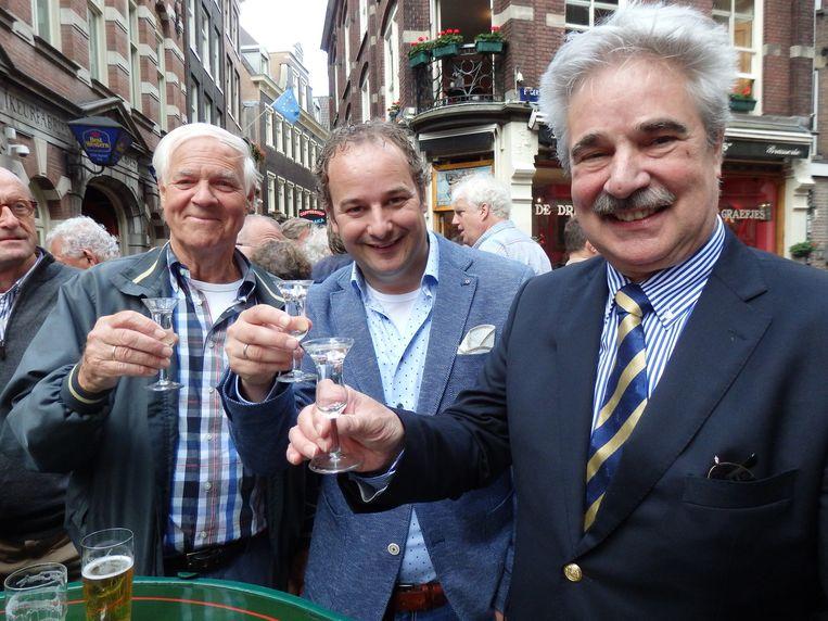 De afvaardiging van de Nederlandse houthandel: vlnr. vatenisten André Koenraad (Otto J. Faber), Sander Daatselaar (Eduard van Leer) en Ad Dekker (SCA Timber). Beeld Schuim
