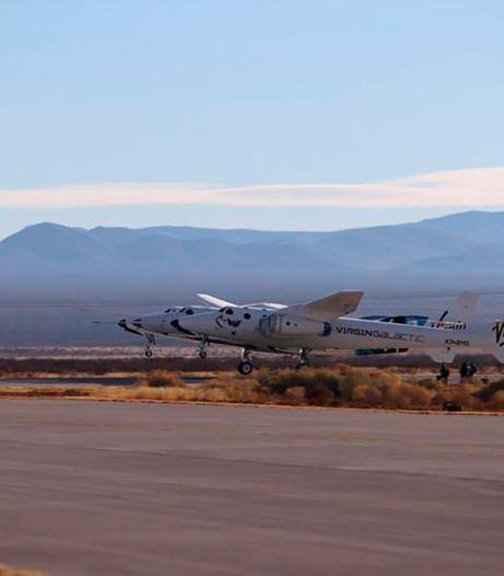 Avarie technique pour une fusée de Virgin Galactic, elle fait demi-tour lors d'un vol d'essai