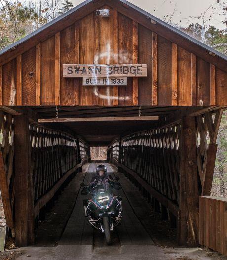 Over de backroads van Alabama op de motor