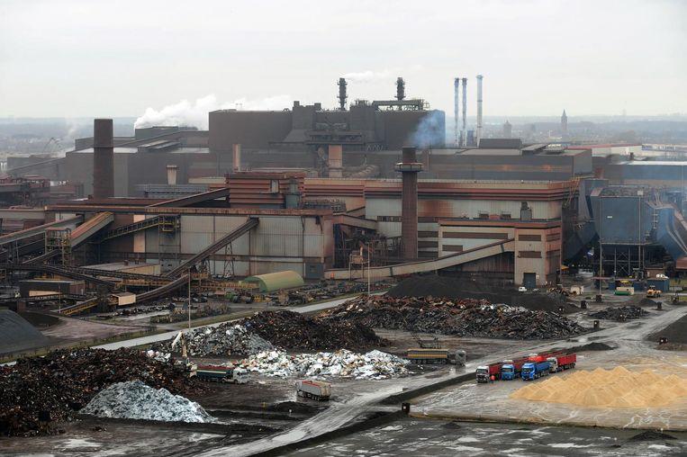 Site van ArcelorMittal in de Gentse haven.
