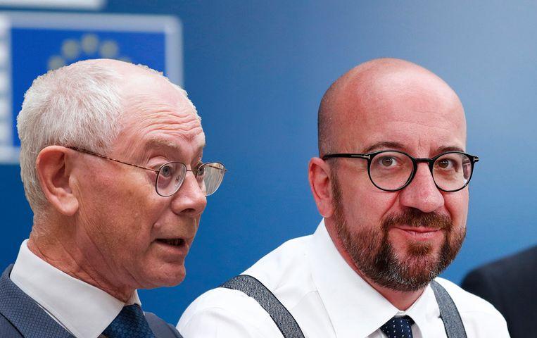 Herman Van Rompuy en Charles Michel