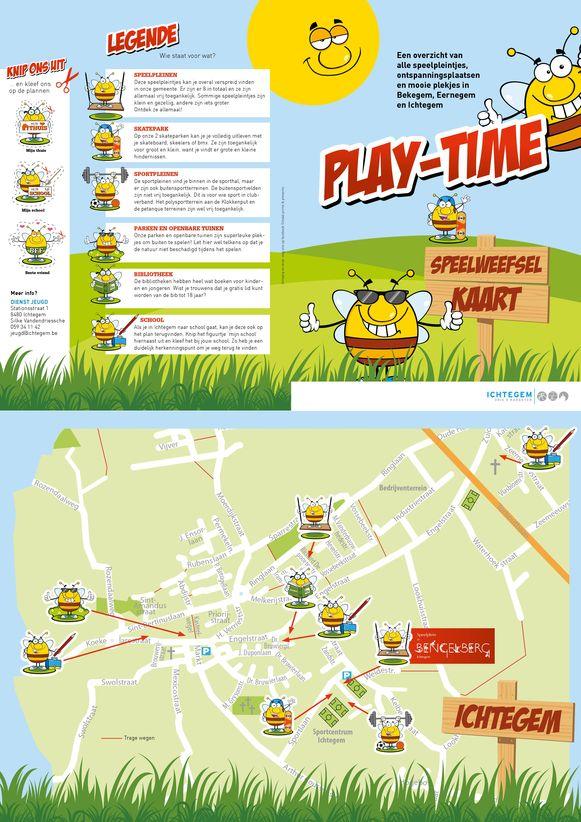 PLAY-time, zo heet de nieuwe speelpleinkaart van de gemeente Ichtegem en jeugddienst