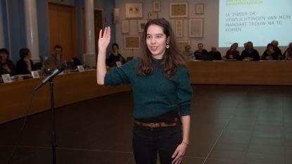 Nieuw Groen raadslid Tine Devos (20) is meteen de jongste in gemeenteraad van Merelbeke