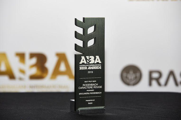 De 101ste award die Brouwerij Rodenbach in de wacht wist te slepen: Rodenbach Caractère Rouge werd tijdens de Australian International Beer Awards uitgeroepen tot beste fruitbier.