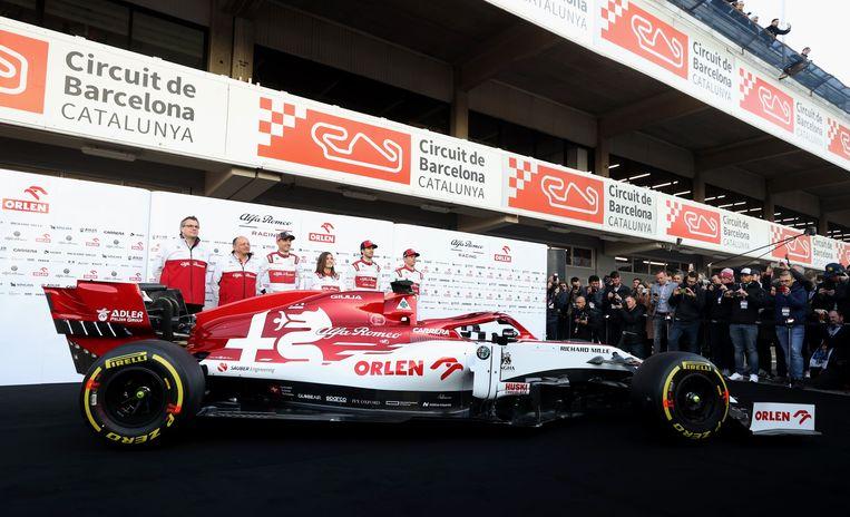 De nieuwe Alfa Romeo werd voorgesteld op de testdagen in Barcelona