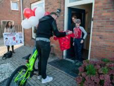 Mike (11) uit Eethen wint ontwerp wielershirt: 'Er moest graffiti, fietsen en Brabant op'