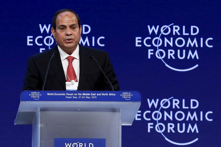 De president van Egypte, Abdel Fattah al-Sisi. Beeld reuters