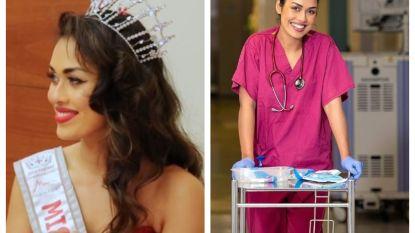 Miss Engeland legt kroontje opzij om als dokter bij te springen in coronacrisis