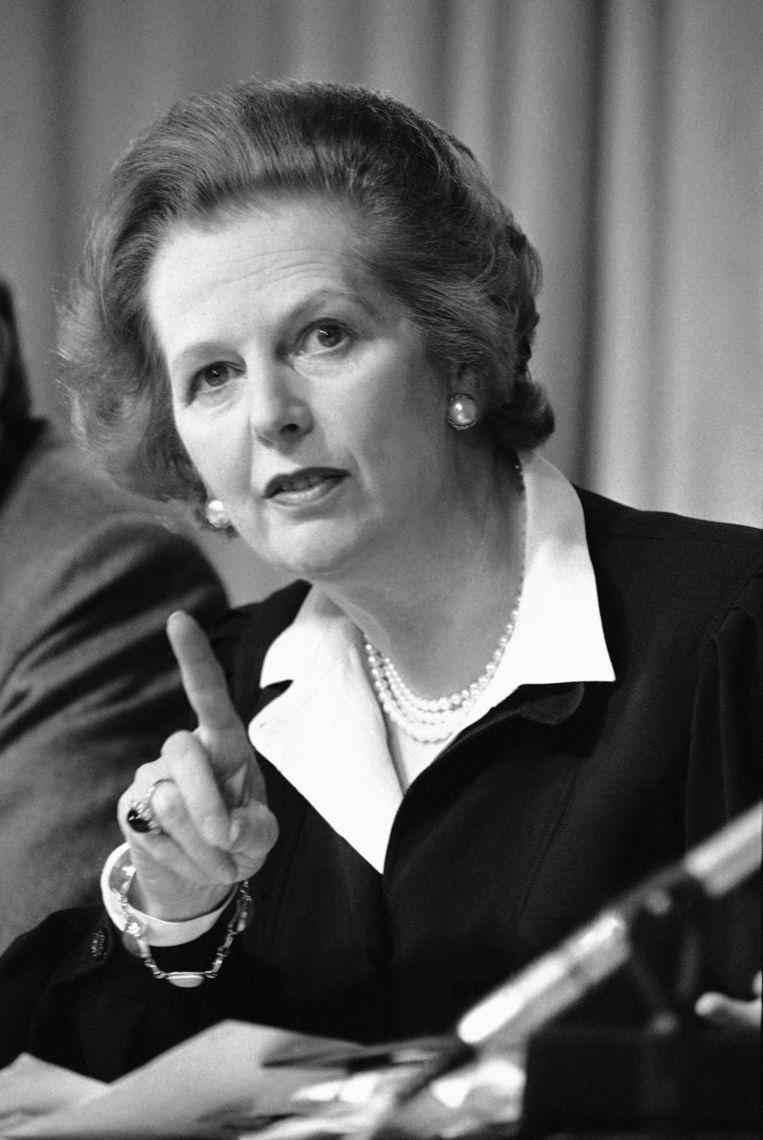 Thatcher in 1983. Beeld AP