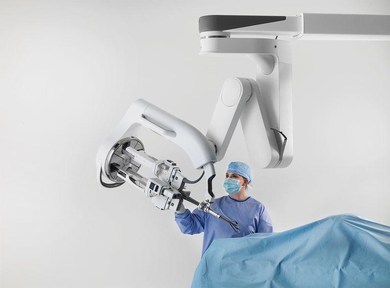 Voor prostaatkanker is aangetoond dat de Da Vinci operatierobot meerwaarde heeft. Beeld Douglas Evans / Da Vinci