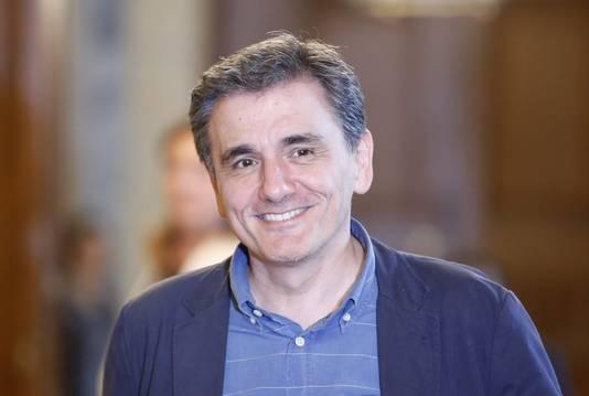 De nieuwe Griekse minister van Financiën Euclides Tsakalotos