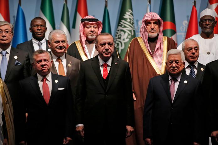 De Turkse President Recep Erdogan spreekt vandaag meerdere leiders van andere islamitische landen.
