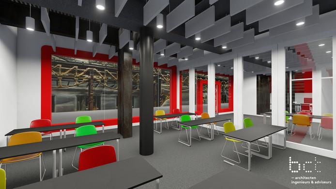 In het ene lokaal komt het nieuwe Edulab, in het andere het Ondernemerslab.