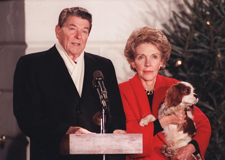 Ronald Reagan en zijn echtgenote Nancy.